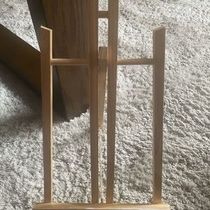 7pcs Tabletop Wooden Easels